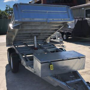 10x5 Galvanised Hydraulic Tipper Trailer for Sale Townsville